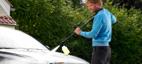 Rengjøring av bilen med Click&Clean skumsprayer