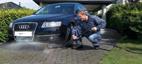 Rengjøring av bilen med Nilfisk Undervognsvasker/universalvasker