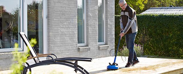 Rengjøring med Patio Plus terrassevasker