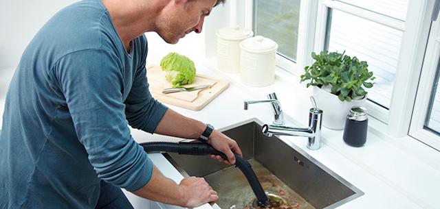 Rengjøring av tett vask