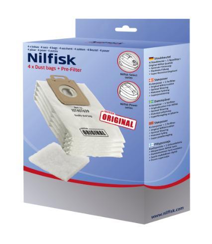 NILFISK SELECT DUST BAGS - 4PCS