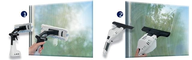 Nilfisk Smart vinduesvasker - rengøring i to trin