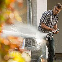 PowerGrip højtryksrengøring af bilen