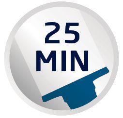 Autonomie de nettoyage de 25 minutes